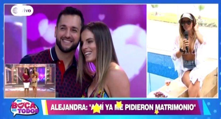 Alejandra Baigorria no hace caso al 'amiga date cuenta' de Rodrigo González y jura que se casa con Arturo Caballero | VIDEO